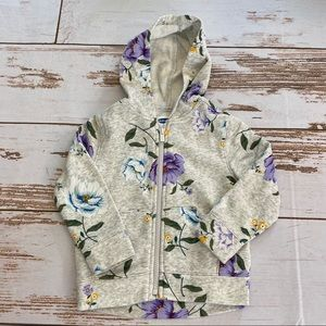 Old Navy Little Girls Sweatshirt. Floral Design